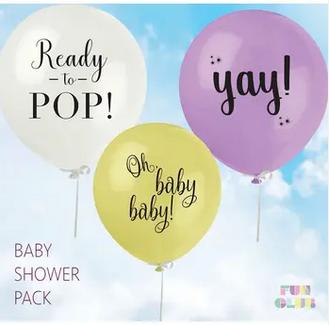 FUN CLUB Baby Shower Balloon 3 Pack