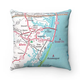Map Pillow Ocean City