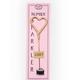 TOPS Malibu Mini Gold Heart Sparkle (Pink Card)