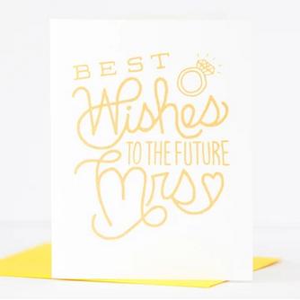 Exit343Design Best Wishes Bridal Shower Card
