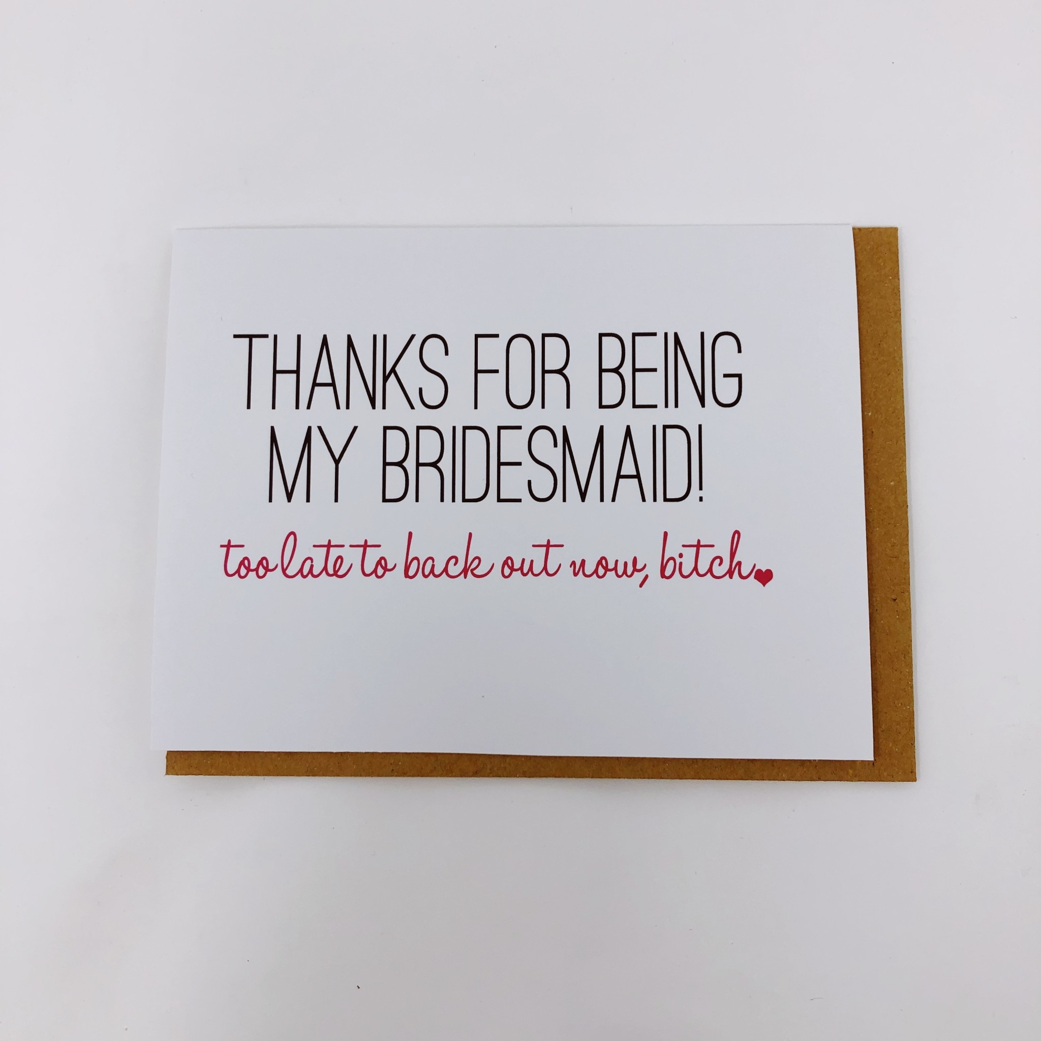 Be Paperie Bridesmaid Thank You Card