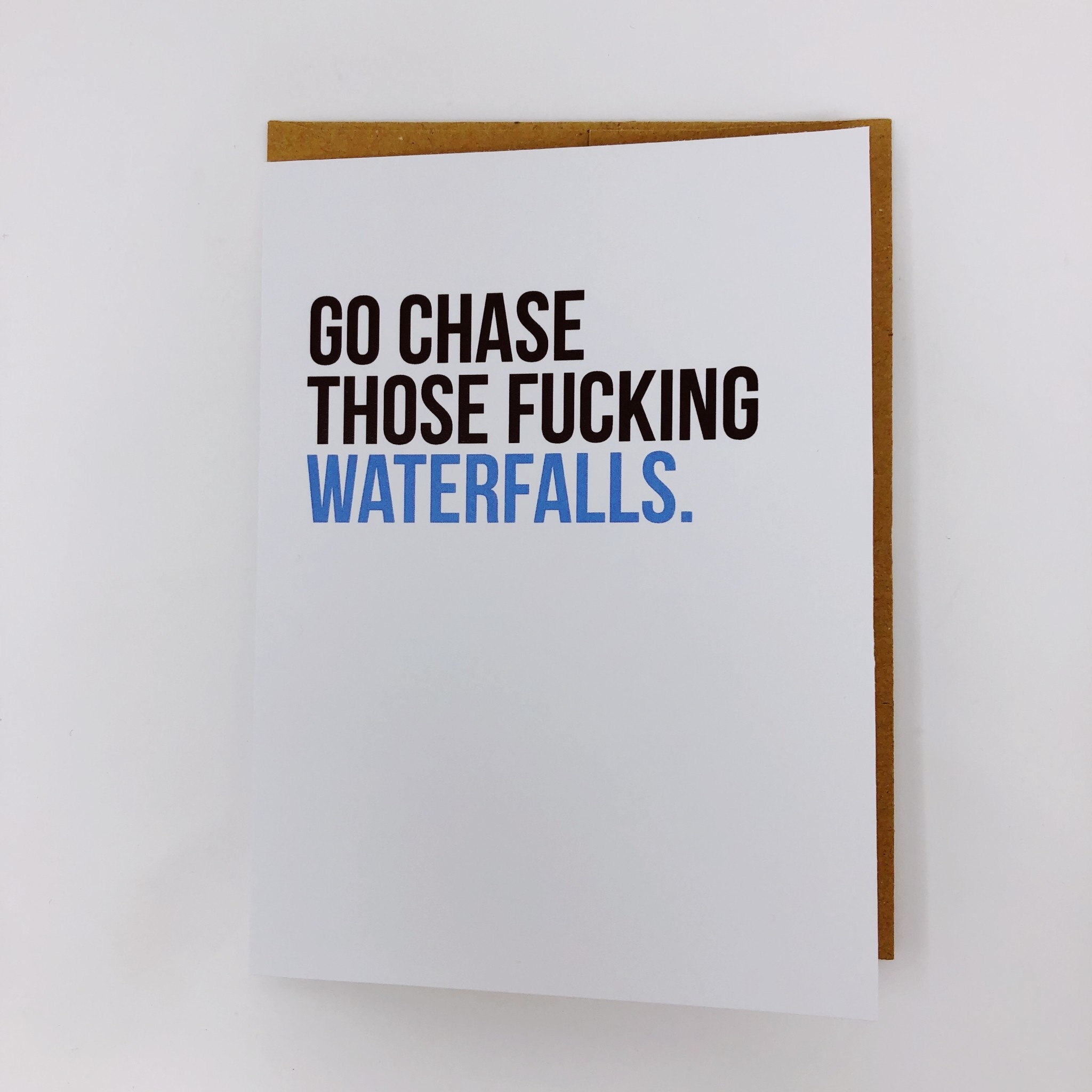 Be Paperie Chase Waterfalls Congrats Card