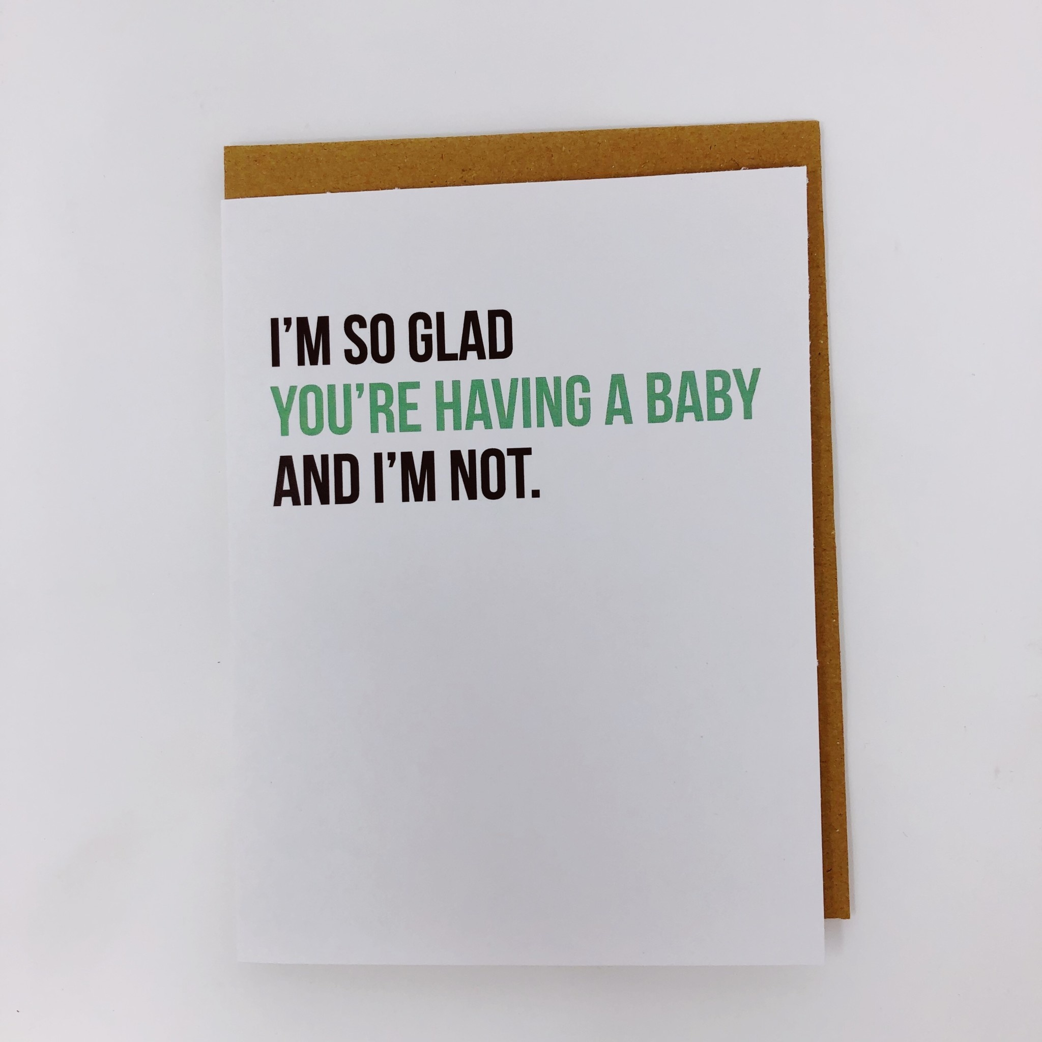 Be Paperie I'm So Glad You're Having a Baby Card