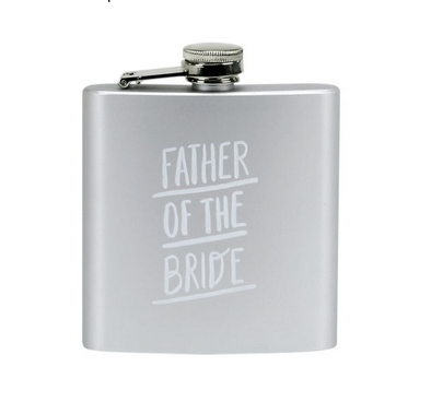 About Face Designs Father of the Bride Flask