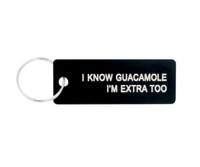 About Face Designs I Know Guacamole Keychain