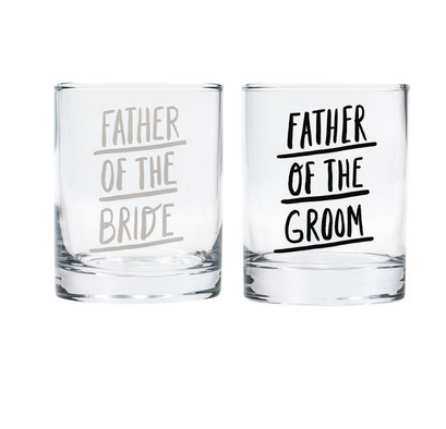 About Face Designs Father of the Bride/Groom Rocks Glassses