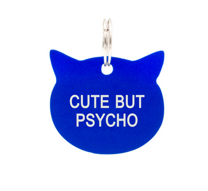 About Face Designs Cat Tag - Cute But Psycho