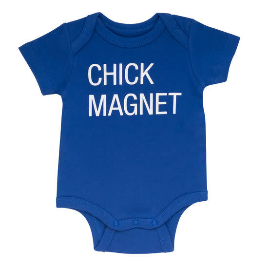 About Face Designs Chick Magnet Onesie