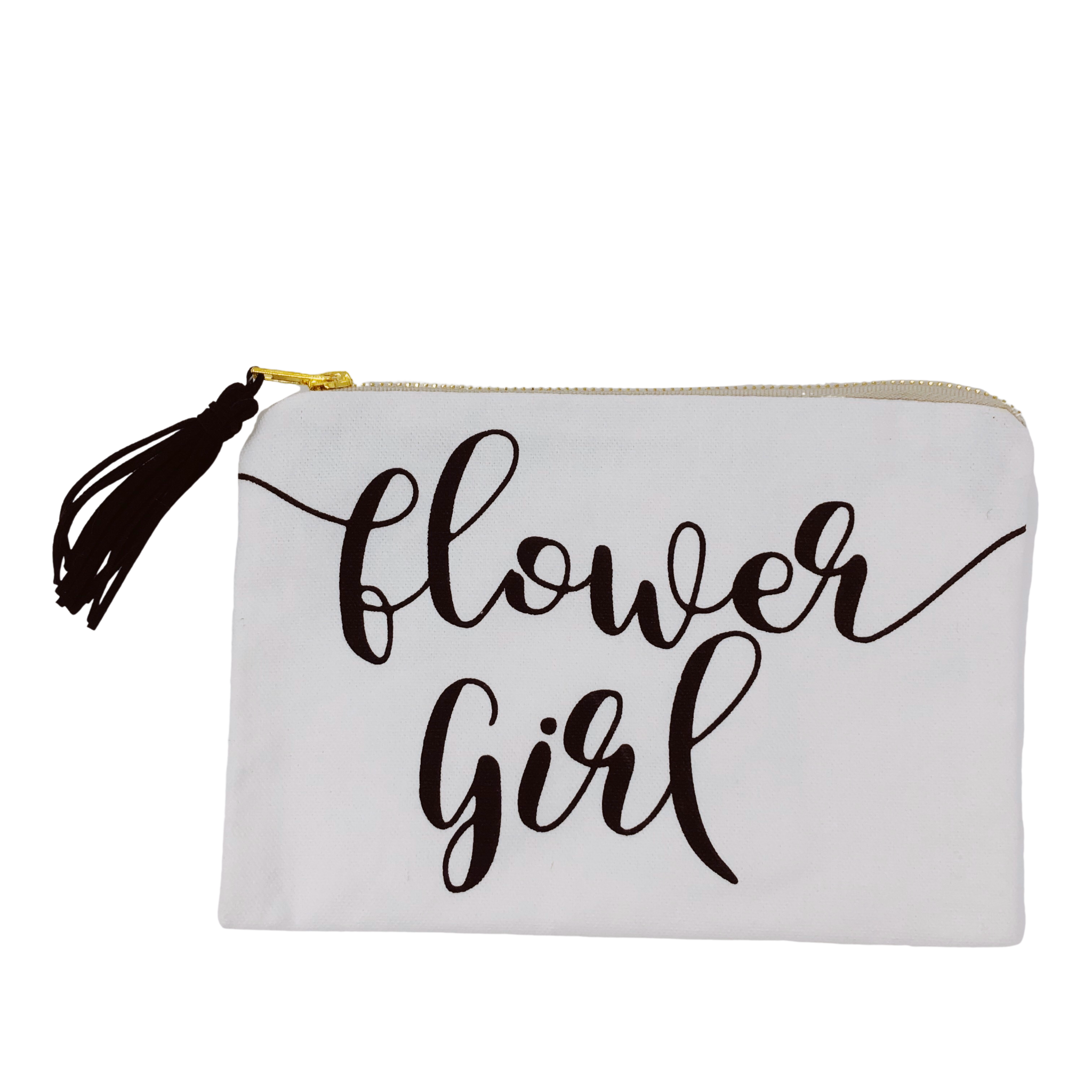 Collins Painting Flower Girl Cosmetic Bag