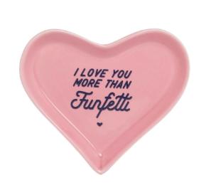 Ever Ellis Heart Trinket Tray Funfetti