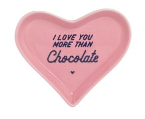 Ever Ellis Heart Trinket Tray Chocolate