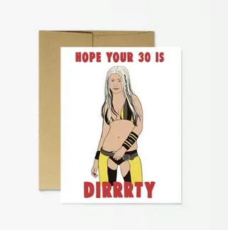 Party Mountain Paper Christina Dirrrty 30 Birthday Card