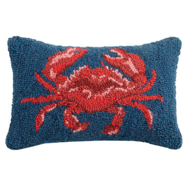 "Peking Handicraft Crab Hook Pillow 8"" x 12"""