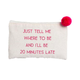 Ever Ellis Canvas Cosmetic Bag - Tell Me Where