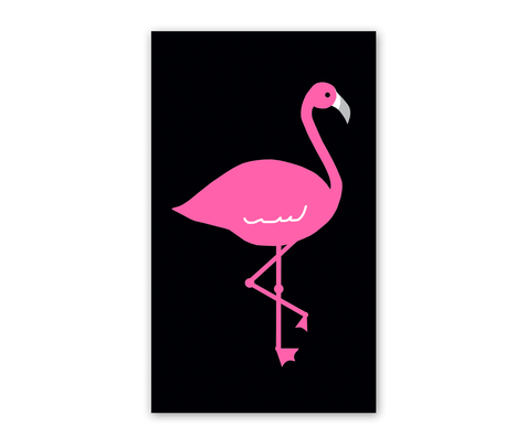Rock Scissor Paper Flamingo Enclosure Card