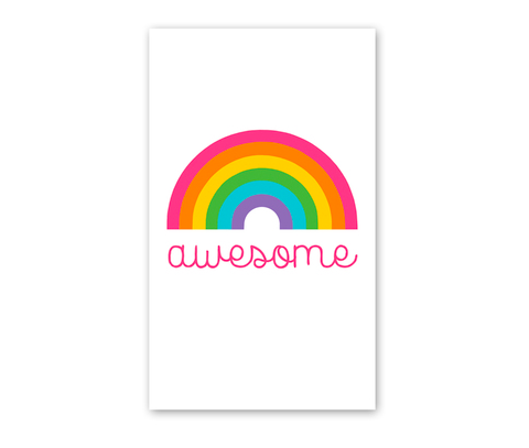 Rock Scissor Paper Enclosure Card Awesome Rainbow