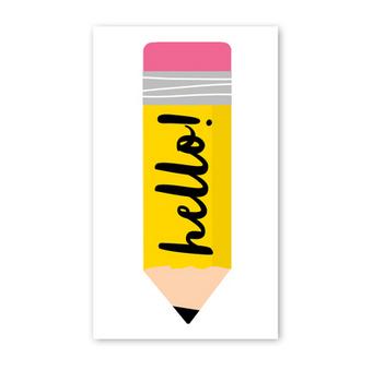 Rock Scissor Paper Enclosure Card Big Pencil