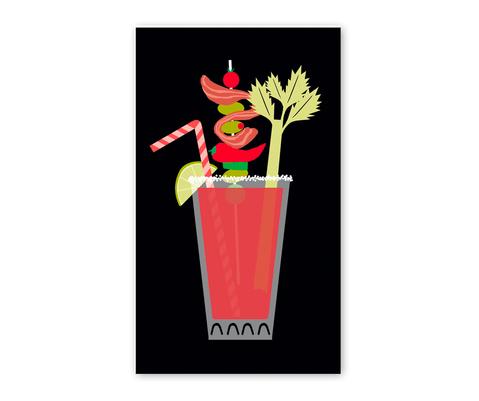 Rock Scissor Paper Bloody Mary Enclosure Card