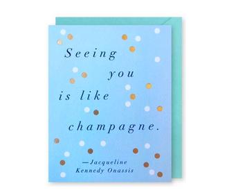 J. Falkner Champagne Jackie Quote Card