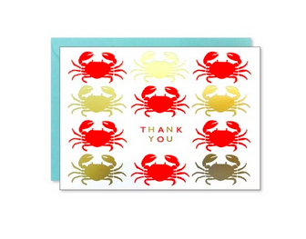 J. Falkner Happy Crabs Thank You Card