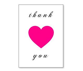 J. Falkner Enclosure Card Thank You Heart