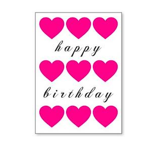 J. Falkner Enclosure Card Birthday Heart
