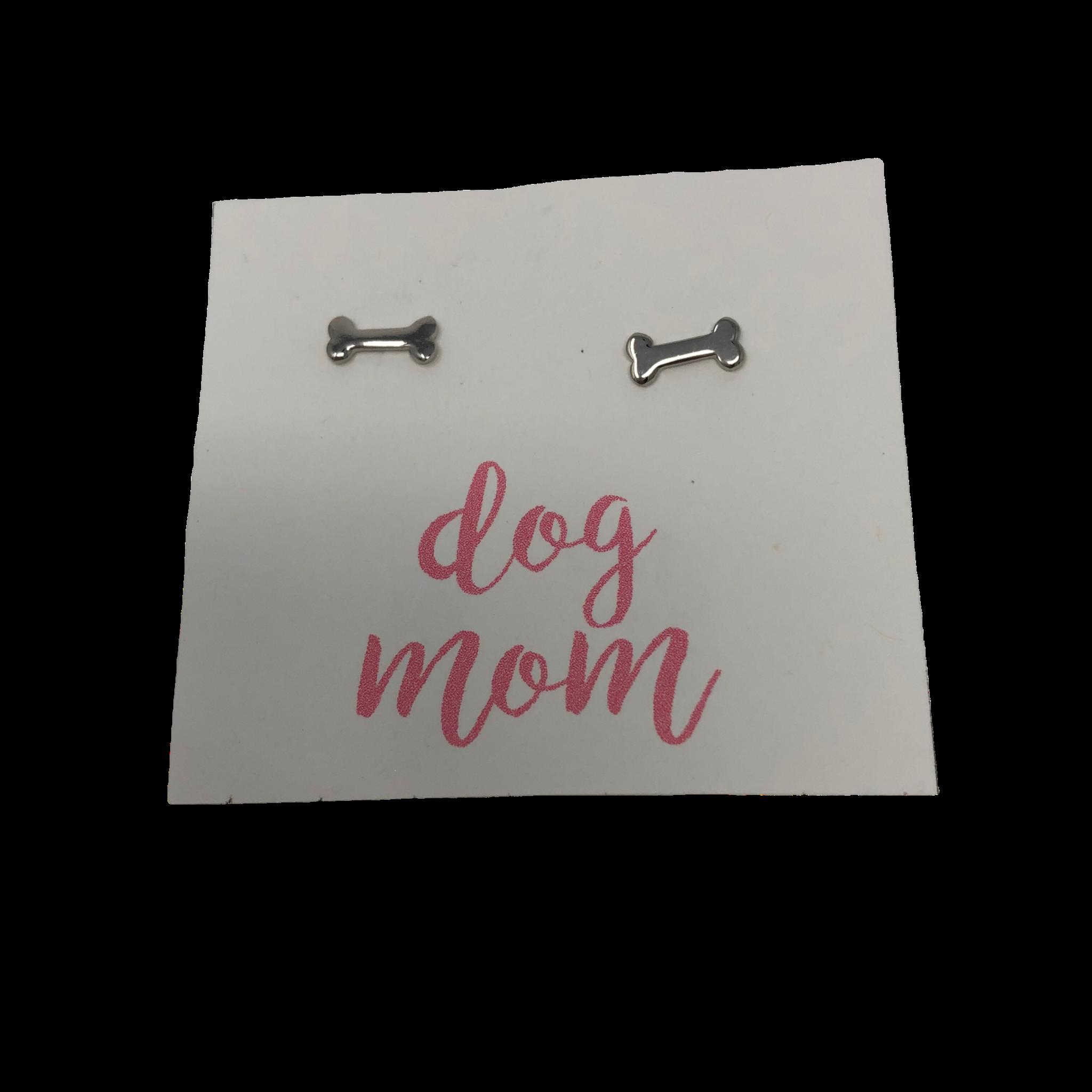 Golden Stella Dog Bone Earrings - Silver