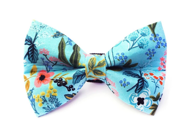 Winthrope Clothing Co Dog Bow Tie Steel Floral Large