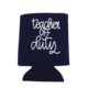 Lizzylovesletters Koozie Blue Teacher