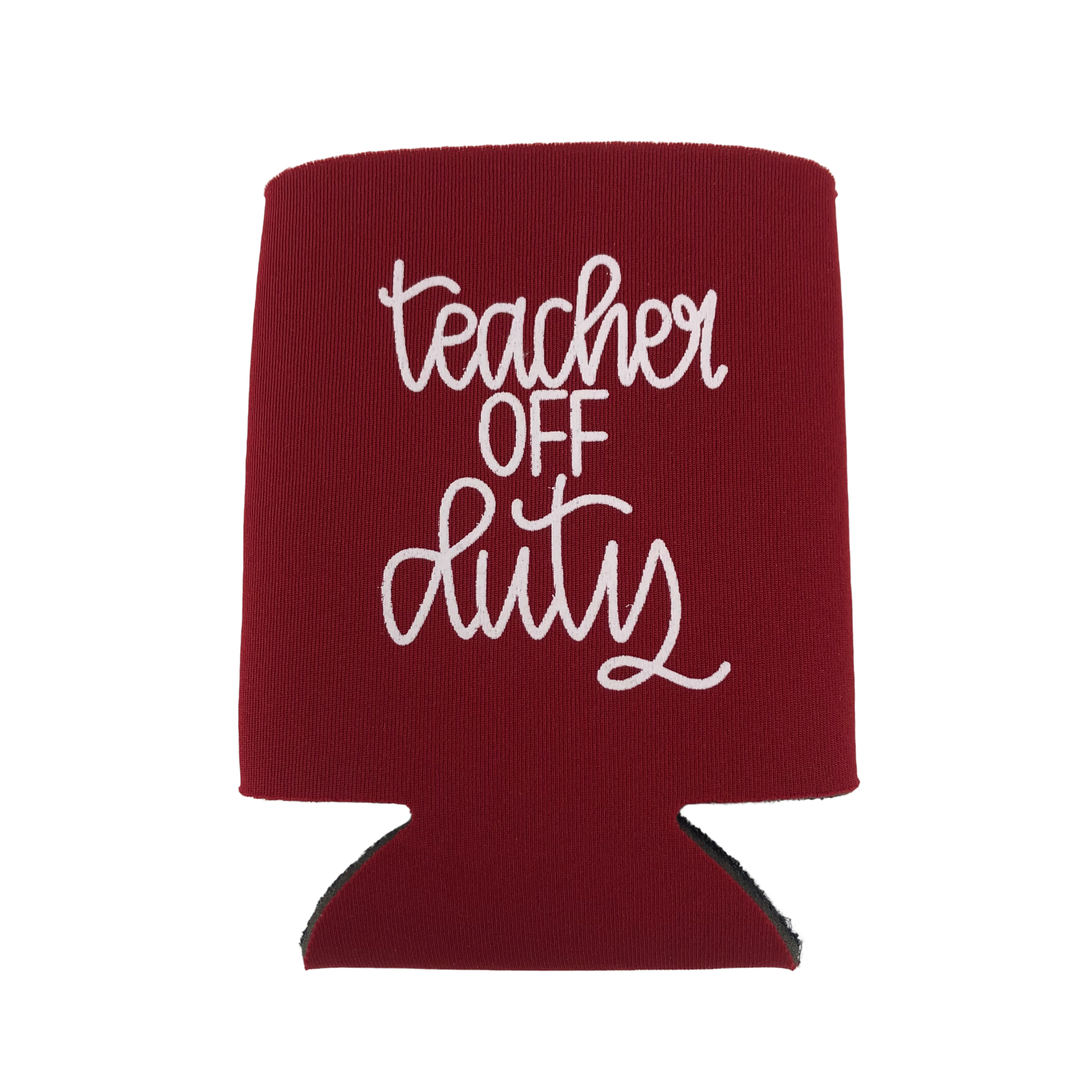 Lizzylovesletters Koozie Red Teacher