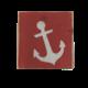 The Painted Mermaid Block Anchor - Salmon