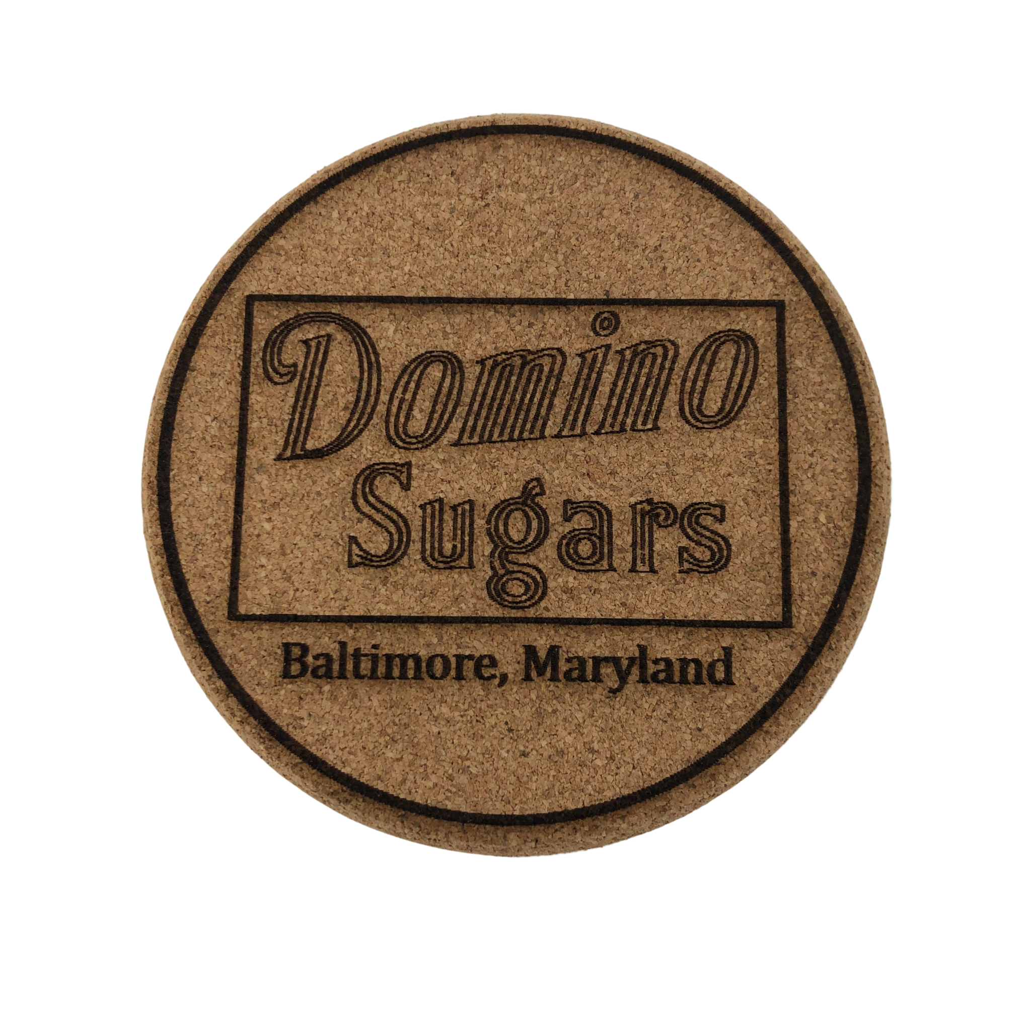 LeRoy Woodworks Cork Coaster Domino Sugars