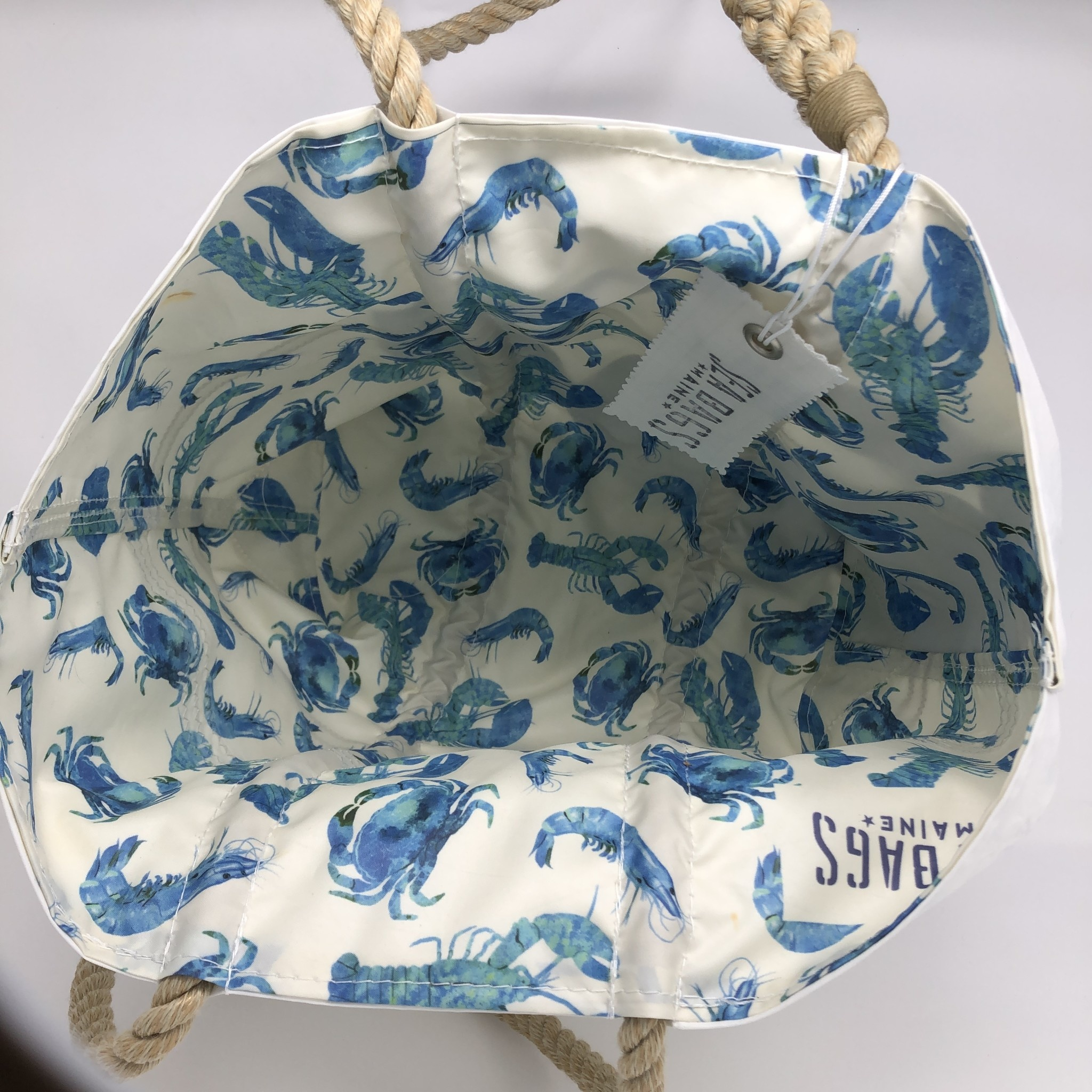 Sea Bags Medium Tote - Royal Blue Crab