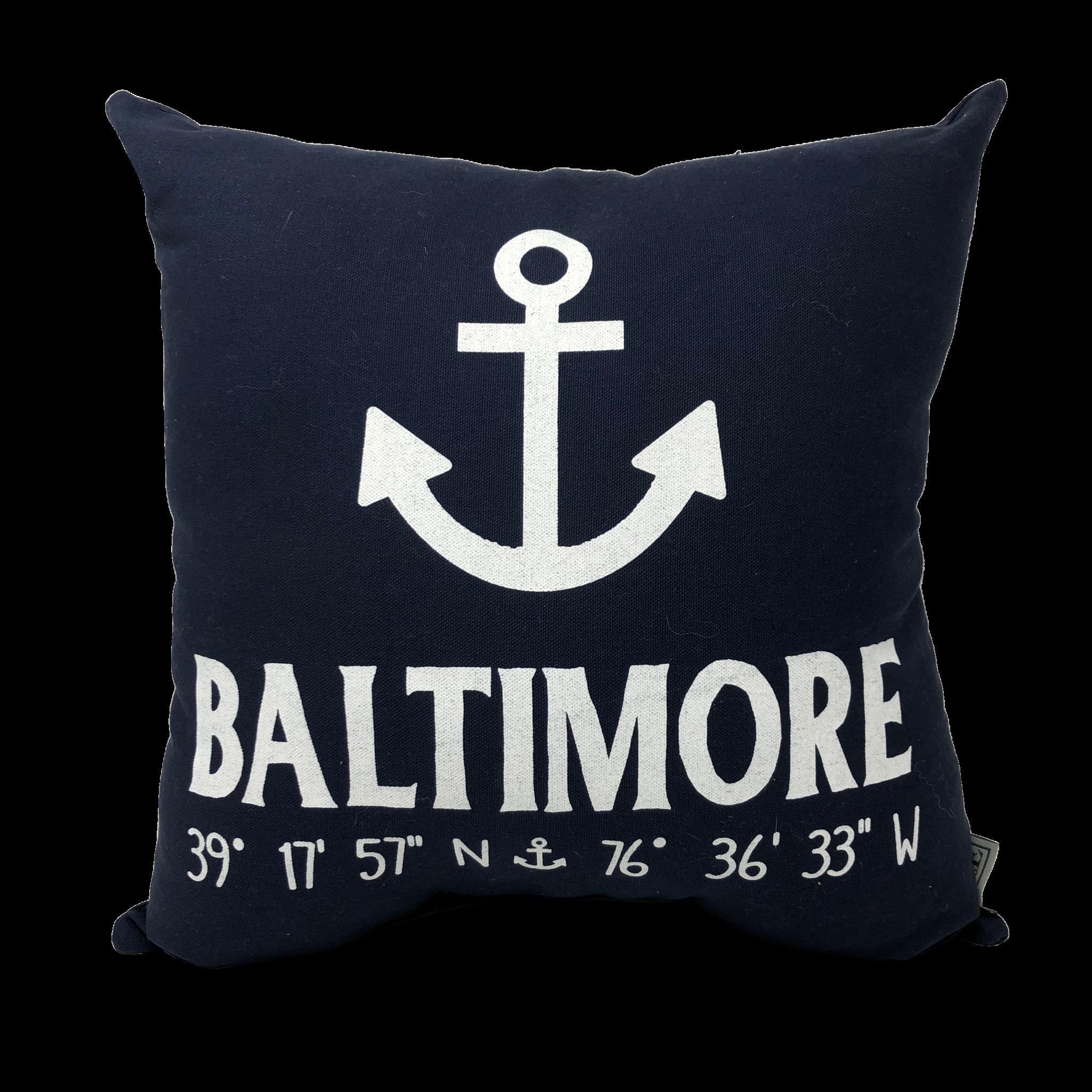 Anchor Baltimore Coordinates Pillow