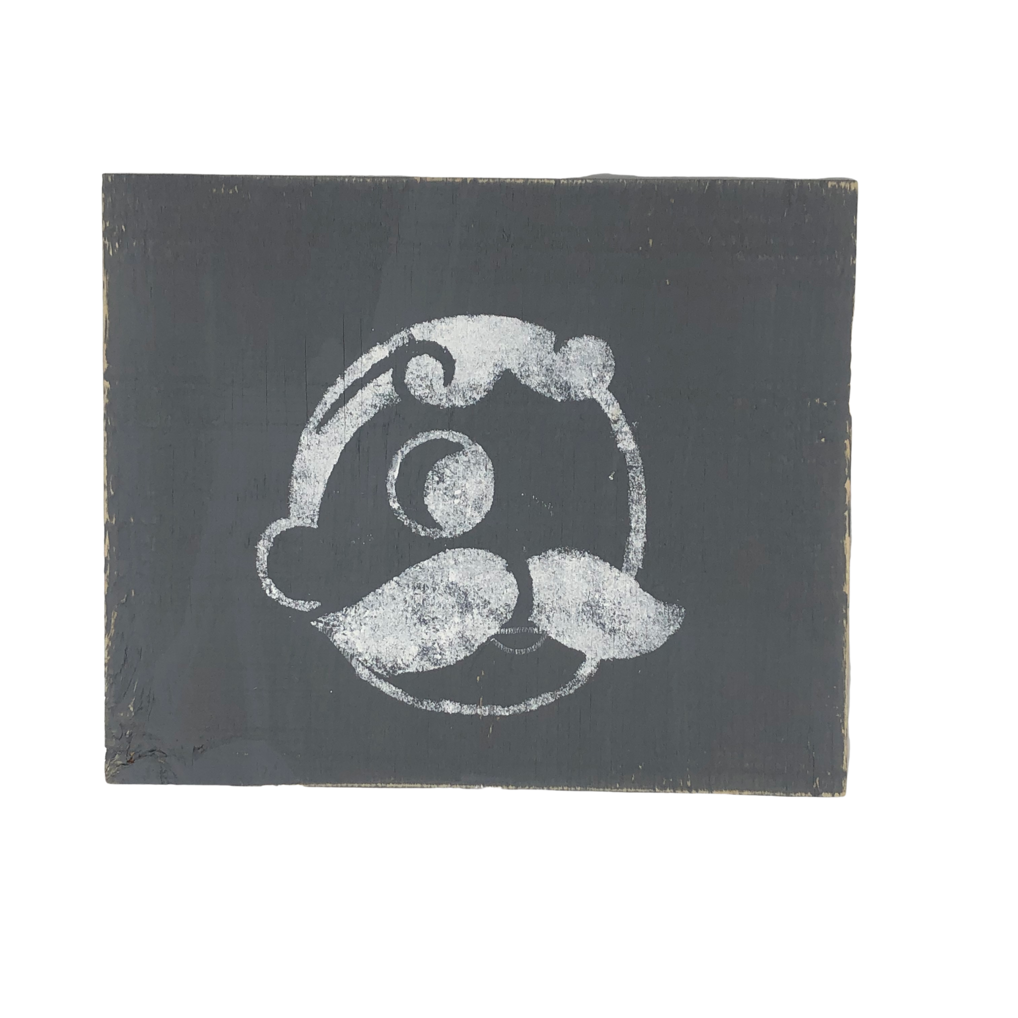 The Painted Mermaid Horizontal Mr. Boh Sign - Gray