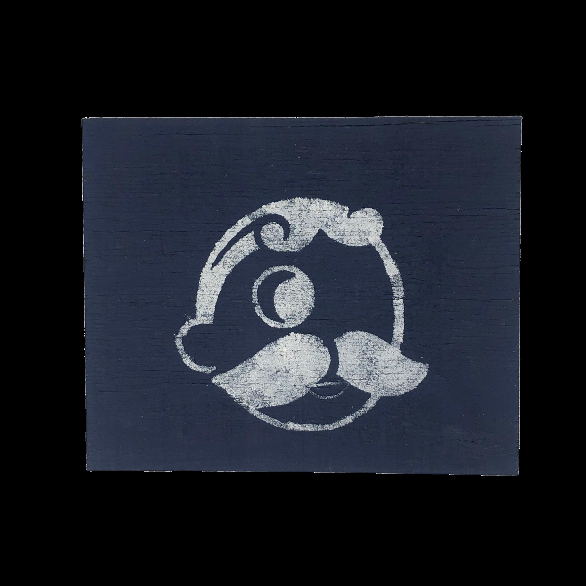 The Painted Mermaid Horizontal Mr. Boh Sign - Navy