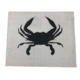 The Painted Mermaid Crab Sign - White