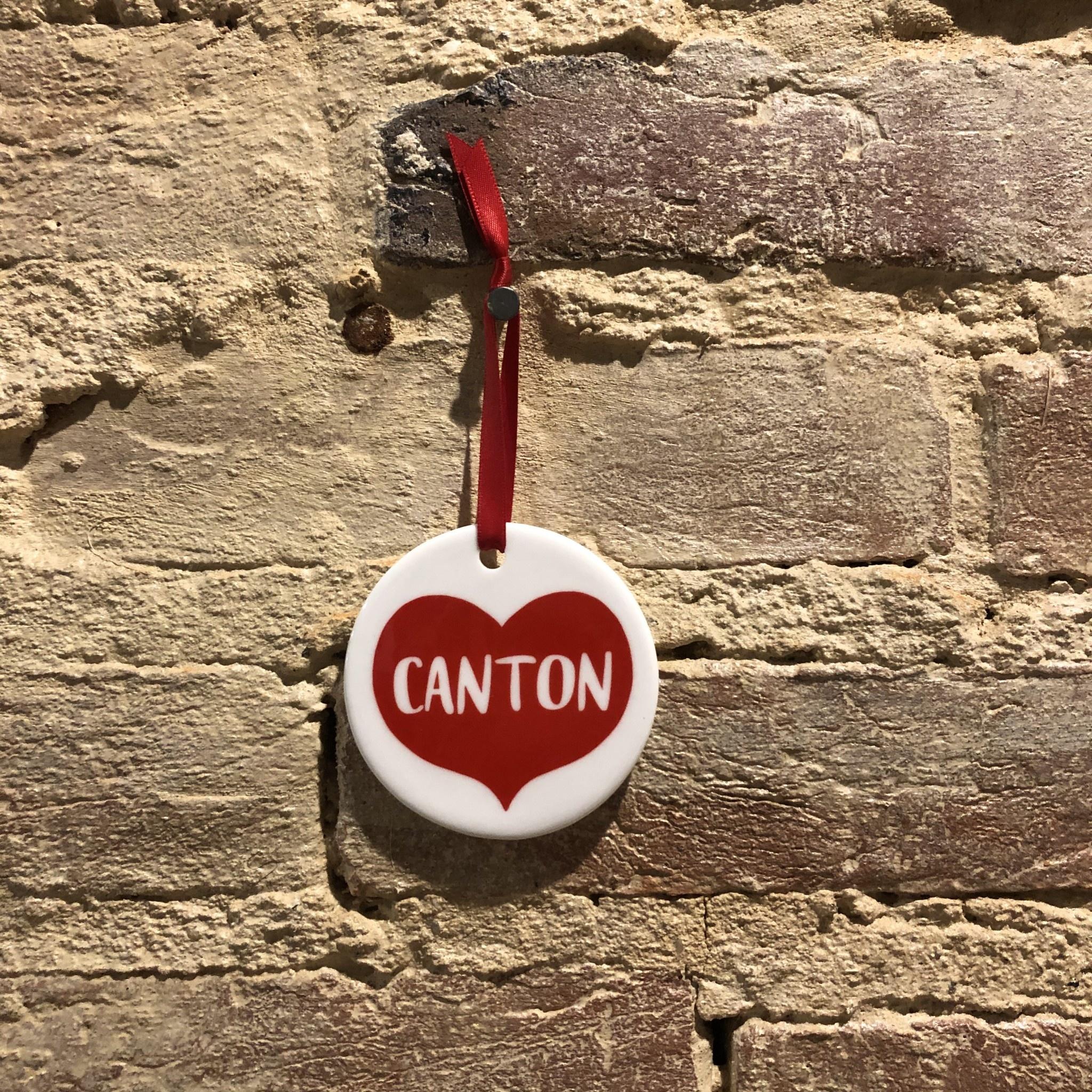 Rock Scissor Paper Big Heart Ornament - Canton