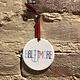 Rock Scissor Paper Baltimore with Anchor Ornament