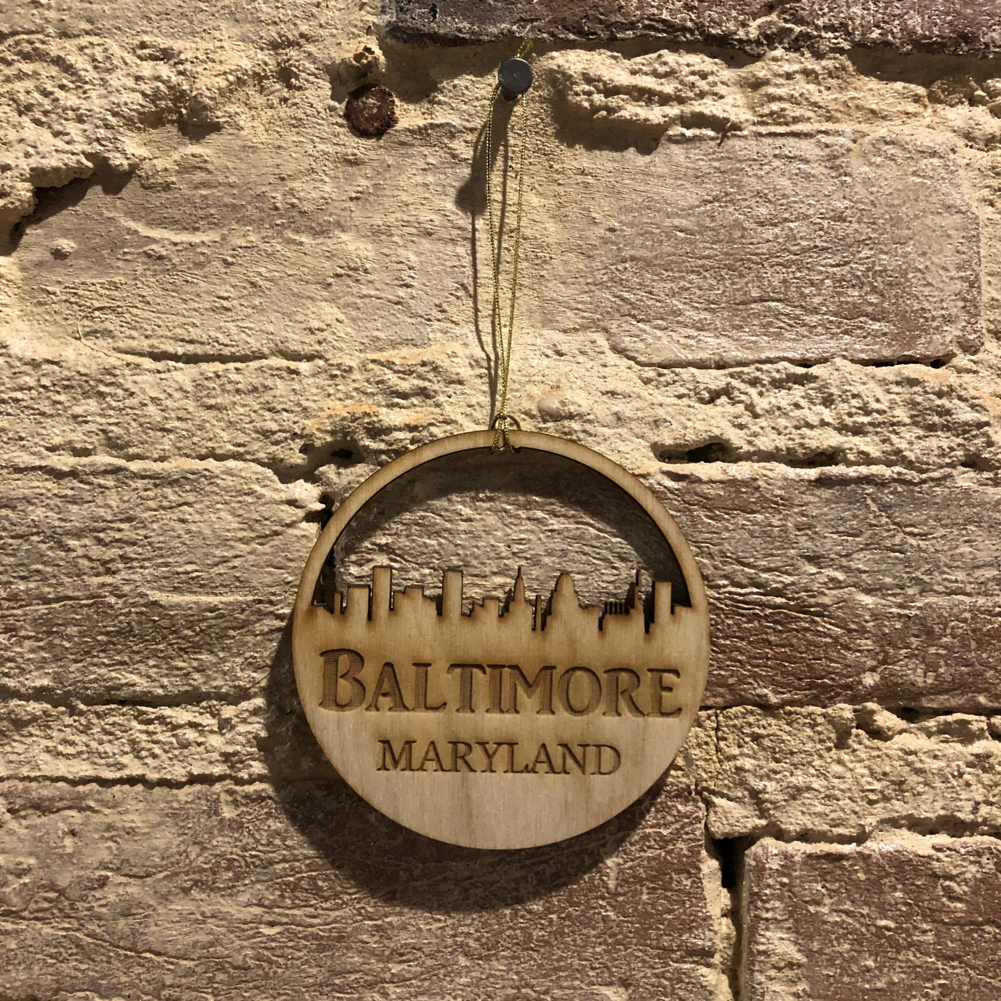 LeRoy Woodworks Baltimore Skyline Ornament