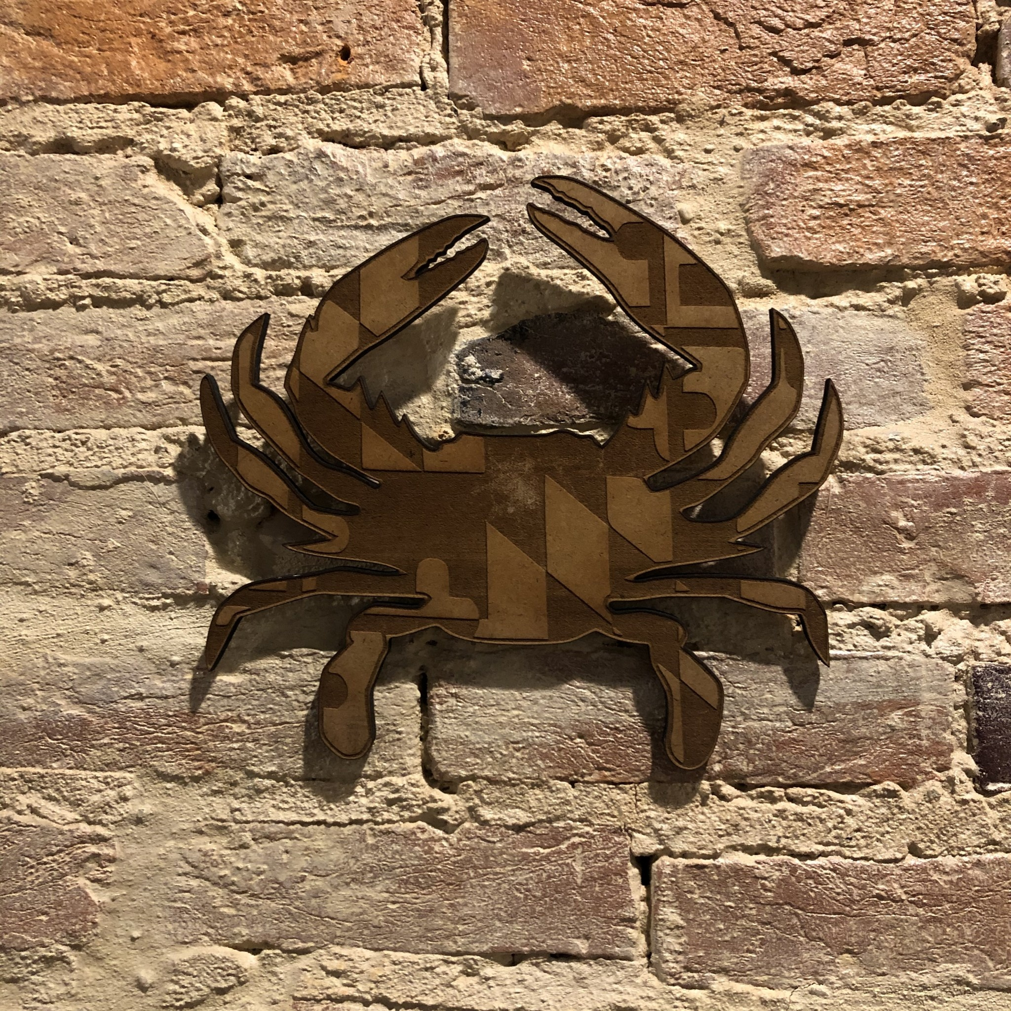 LeRoy Woodworks MD Crab Wall Hanging