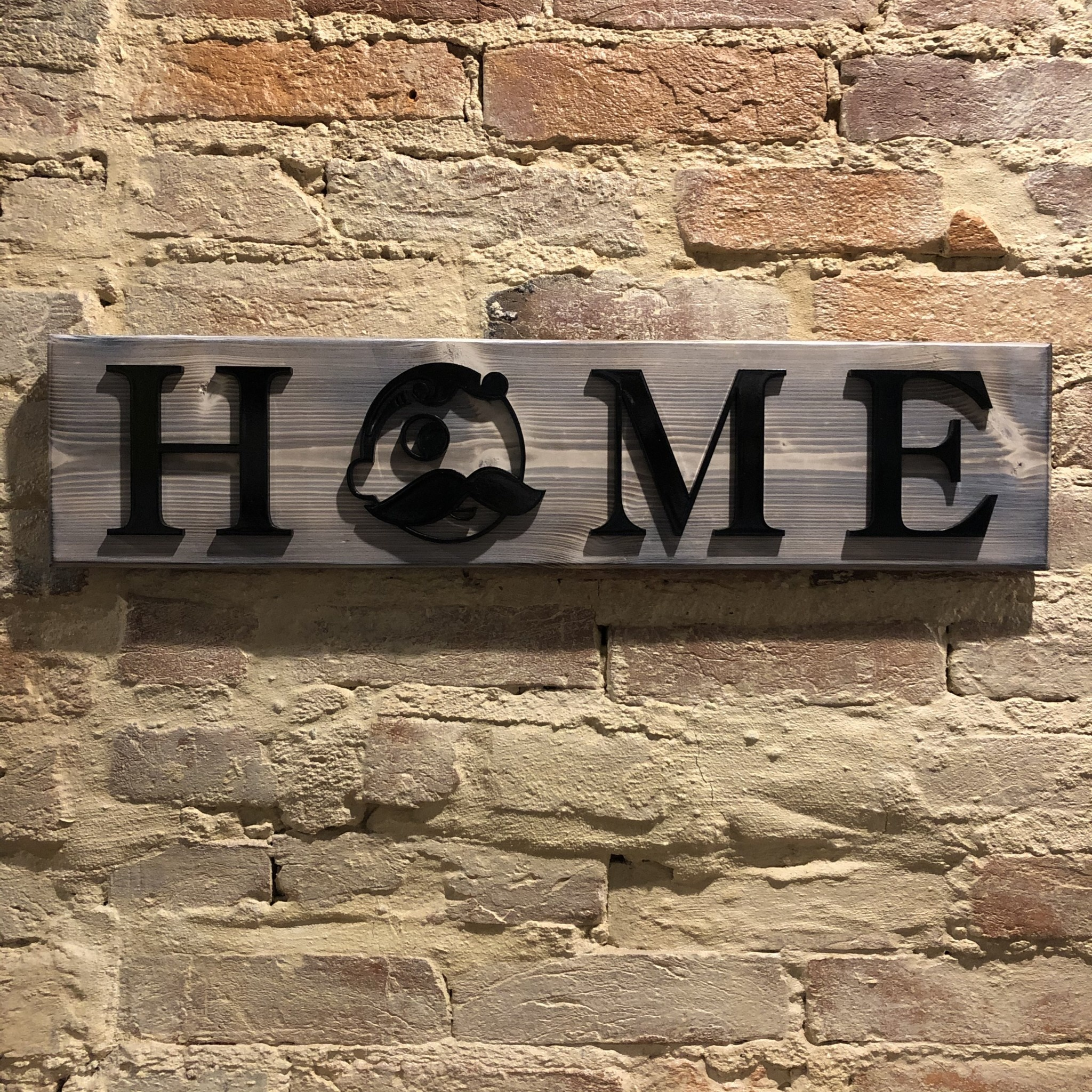 LeRoy Woodworks Natty Boh Home Sign -  Burnt/White Washed