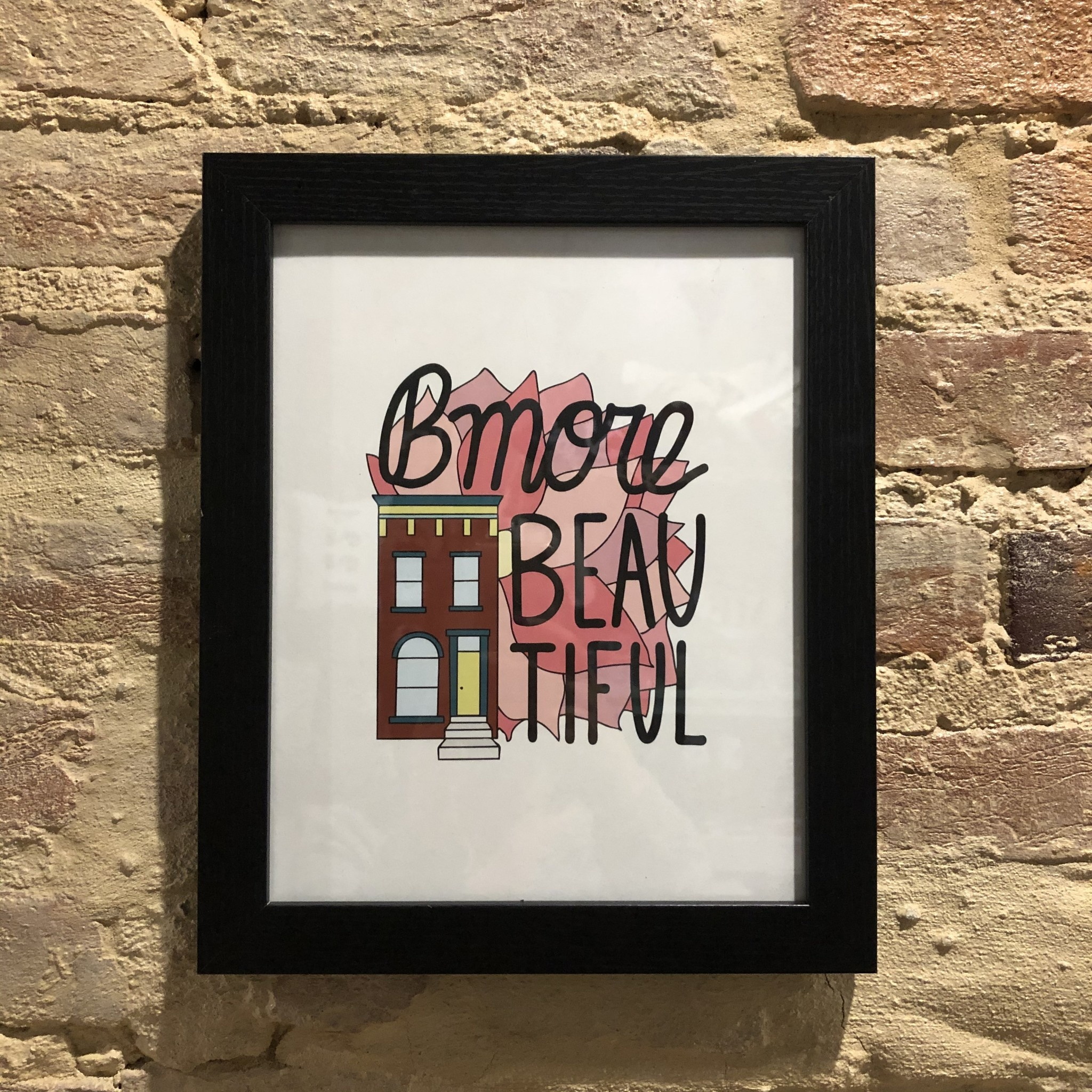 Row House 14 Bmore Beautiful 8x10 Print Framed - Black
