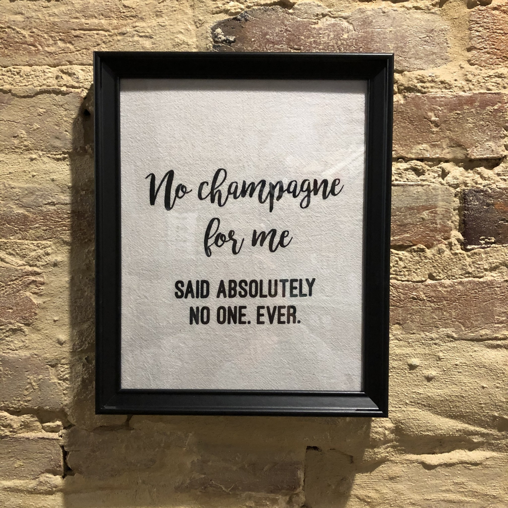 Wildwood Landing Framed Tea Towel No Champagne