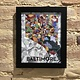 "8"" x 10"" Baltimore Art Print - Black Frame"