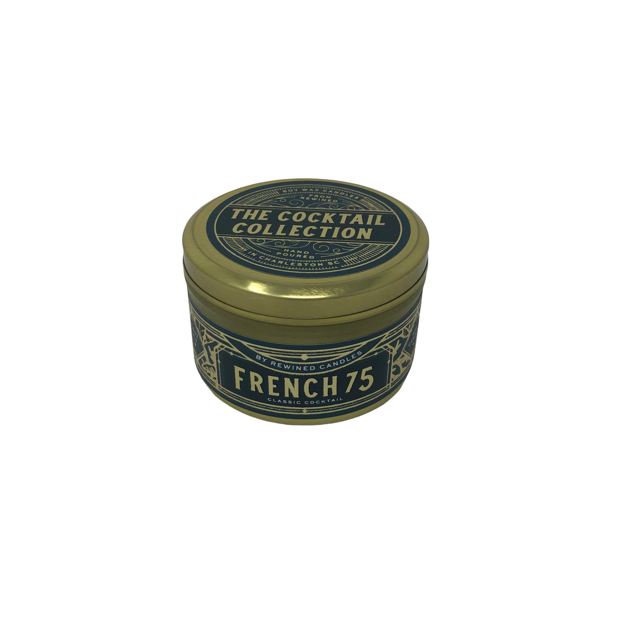 Rewined French 75 Travel Tin Candle