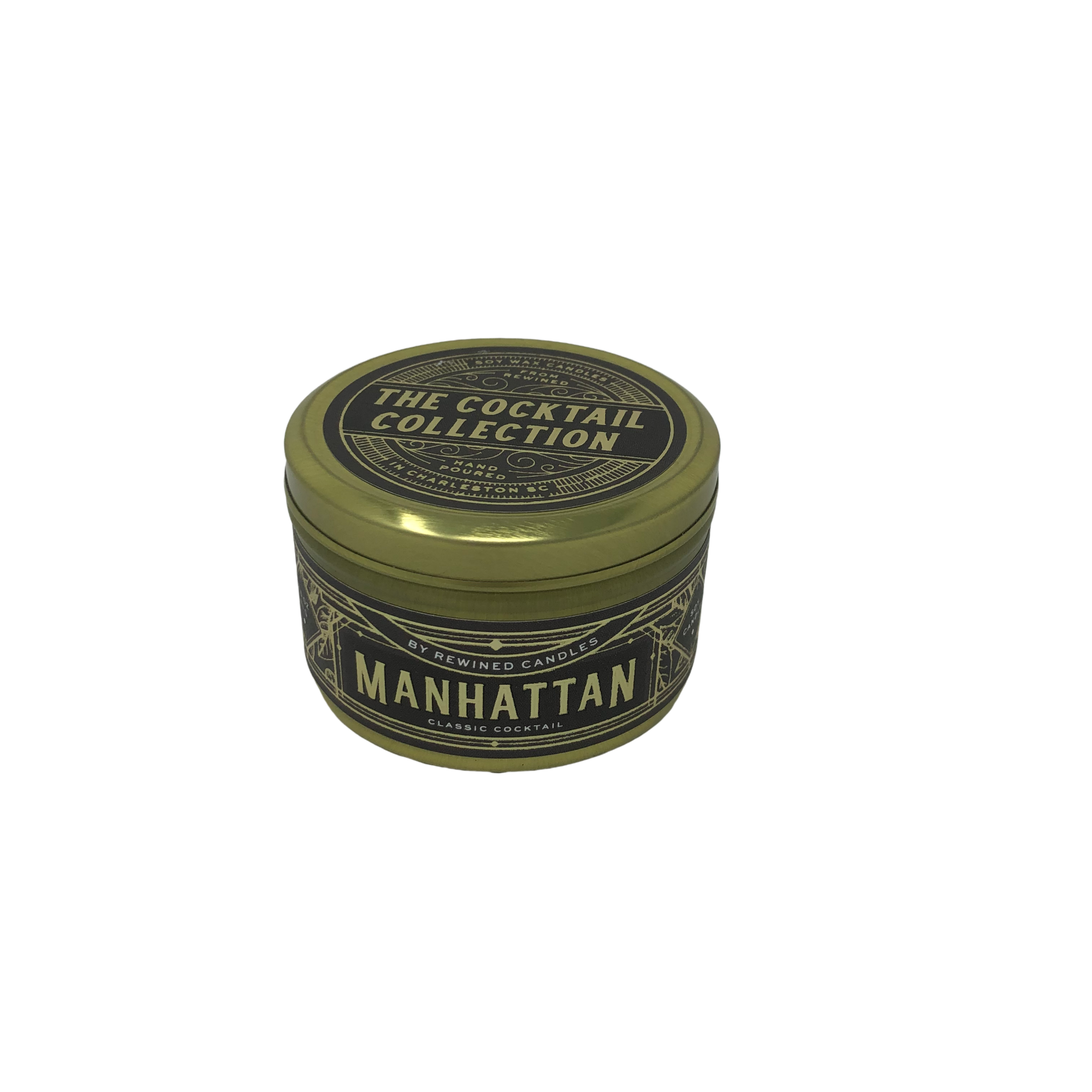 Rewined Manhattan Travel Tin Candle
