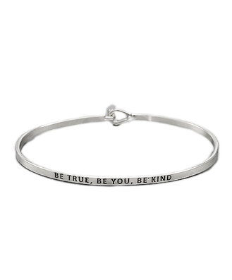 Golden Stella Bangle - Be True, Be You, Be Kind