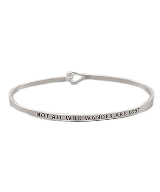 Golden Stella Bangle - Not All Who Wander