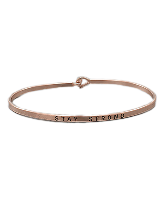 Golden Stella Bangle - Stay Strong